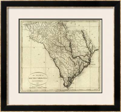 State of South Carolina, c.1796 Framed Giclee Print by John Reid