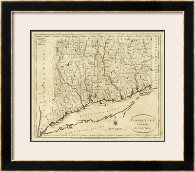 Connecticut, c.1796 Framed Giclee Print by John Reid