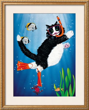 Snorkel Kitty Prints by Peter Powell