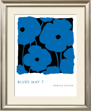 Blues, May 7 2009 Prints by Donald Sultan