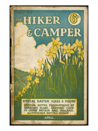 Hiker and Camper Magazine Giclee Print
