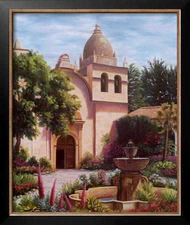 Carmel Mission Fountain Art by Barbara R. Felisky