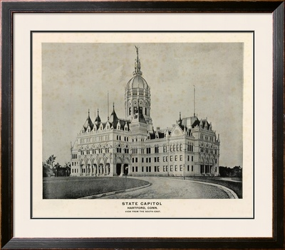 State Capitol, Hartford, Connecticut, c.1893 Framed Giclee Print
