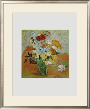 Roses and Anemones, c.1890 Prints by Vincent van Gogh