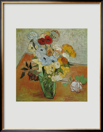 Roses and Anemones, c.1890 Poster by Vincent van Gogh