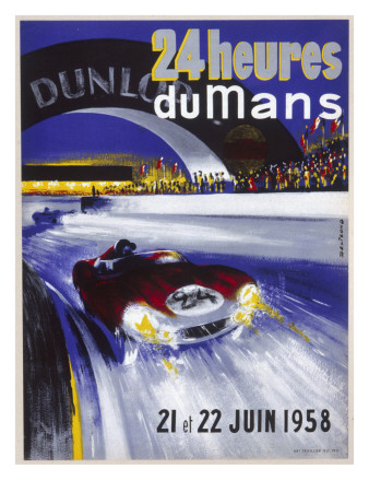 Le Mans 24Hr Race Poster Stretched Canvas Print