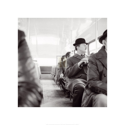 City Gent on the Top Deck of a Bus Prints by Henry Grant