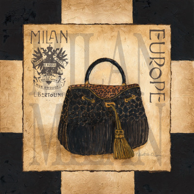 Shopping Milan Art Print