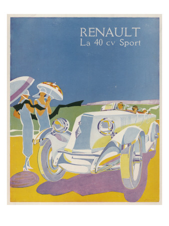 The Splendid Renault on a Fine Summer's Day Giclee Print