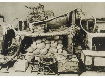 Treasures Found at the Tomb of Tutankhamen in the Valley of the Kings Photographic Print