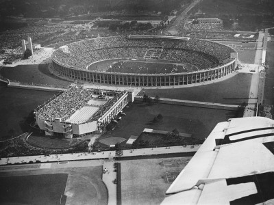 The 1936 Berlin Olympic Stadium, Aerial View, in Berlin, Germany in 1936 Photographic Print by Robert Hunt