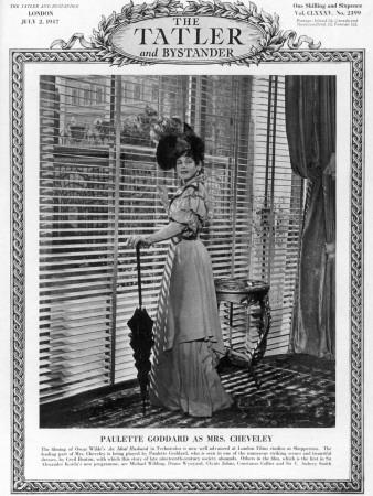 Tatler Front-Cover: Paulette Goddard Photographic Print