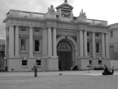 Facade of the National Maritime Museum in Greenwich, South East London Photographic Print