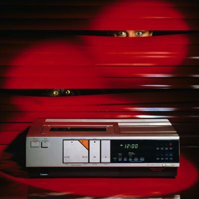 Retro Video Vhs Player 1980s, Home System, Original, Machinery Lámina fotográfica