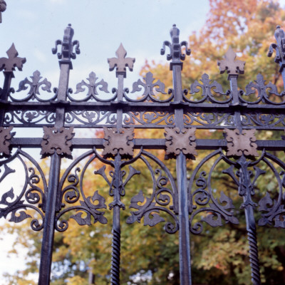 Decorative Wrought Iron Gates at Abney Hall, Cheadle Photographic Print by Vanessa Wagstaff