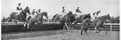 Gold Cup Day at Cheltenham, 1945 Photographic Print