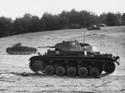 German Panzerkampfwagen in France During World War Ii Photographic Print by Robert Hunt