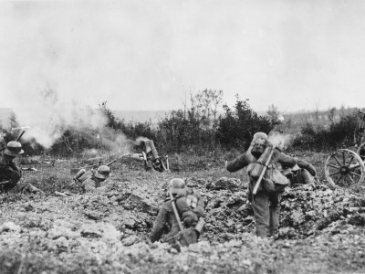 German Trench Mortar WWI Photographic Print by Robert Hunt