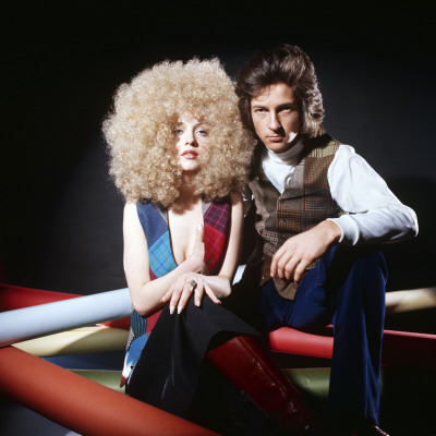 1970s Fashion Models on Retro Fashion Models 1970s  Couple  Big Hair  Wig  Wigs Photographic
