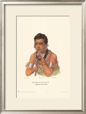 Chief of the Ioways Poster by Charles Bird King
