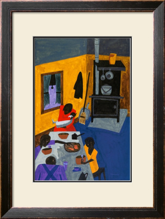 This Is a Family Living in Harlem, 1943 Prints by Jacob Lawrence