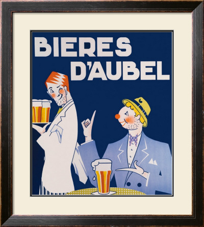 Bieres d'Aubel Framed Giclee Print by Odette Servais