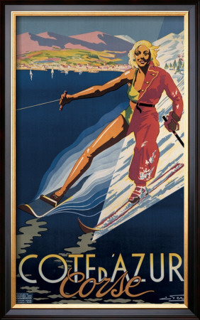 Cote d'Azur Corse Framed Giclee Print by E. Ter