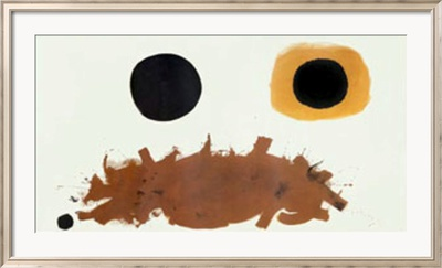 Ochre and Black, c.1962 Lmina enmarcada