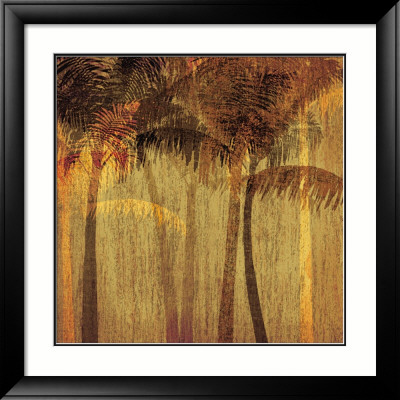 Sunset Palms I Framed Art Print