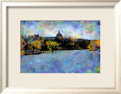 La Seine, Paris, France Kehystetty giclee-vedos