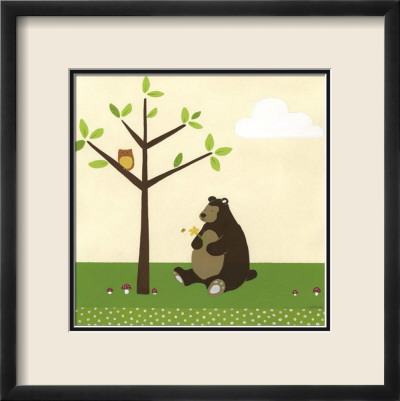 Woodland Friends IV Framed Art Print
