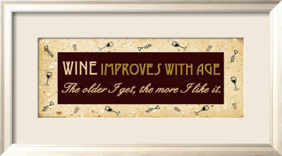 Wine Improves with Age Innrammet kunsttrykk