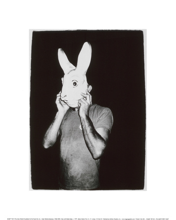 Man with Rabbit Mask, c.1979 Gicle-Druck