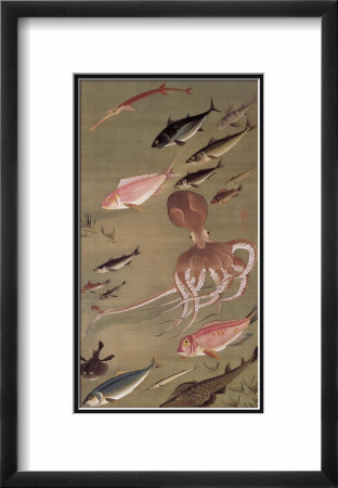 Fish Athletic Meeting Framed Giclee Print