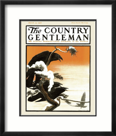 Crows in Winter, c.1918 Framed Giclee Print