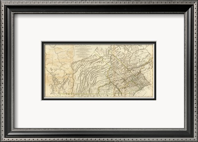 Map of Pennsylvania, c.1776 Framed Giclee Print