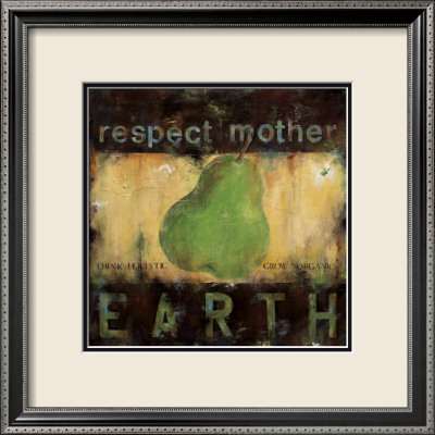 Respect Mother Earth Gerahmter Kunstdruck