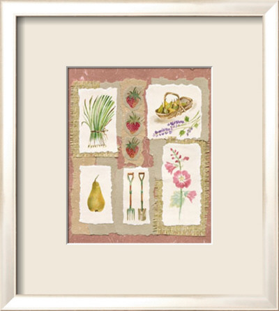 Gardening Pleasures I Framed Art Print