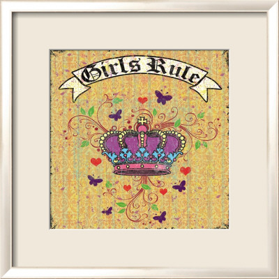 Girls Rule Framed Art Print