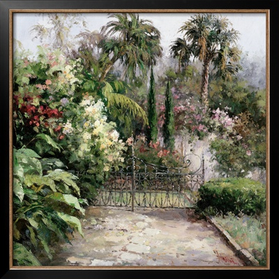 Palm Garden Prints by  Haibin