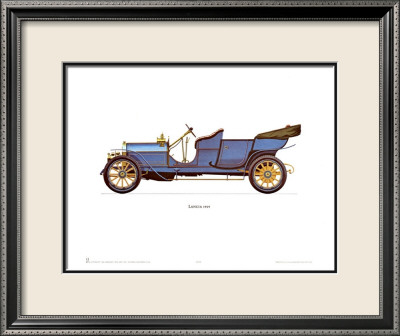 1909 Lancia Framed Art Print