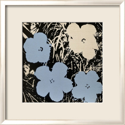Flowers, c.1965 (Blue, Ivory) Framed Art Print