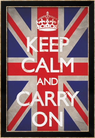 Keep Calm and Carry On Póster enmarcado