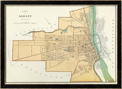 Albany, New York, c.1895 Framed Giclee Print