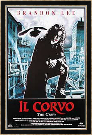 The Crow Inramad poster
