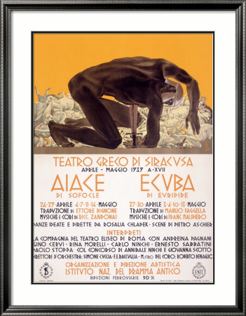 Affiche Greek Drama Siracusa Theater Estampe encadrée
