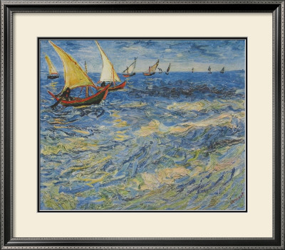 Seascape at Saintes-Maries, c.1888 Framed Art Print