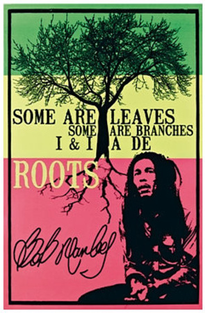 Leaves and branches bob marley quote poster artwork