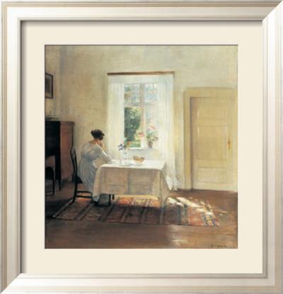 Sale da pranzo arte decorativa poster su - Finestra con seduta ...