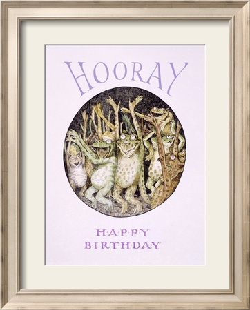 Hooray! Frog's Happy Birthday Estampe encadrée